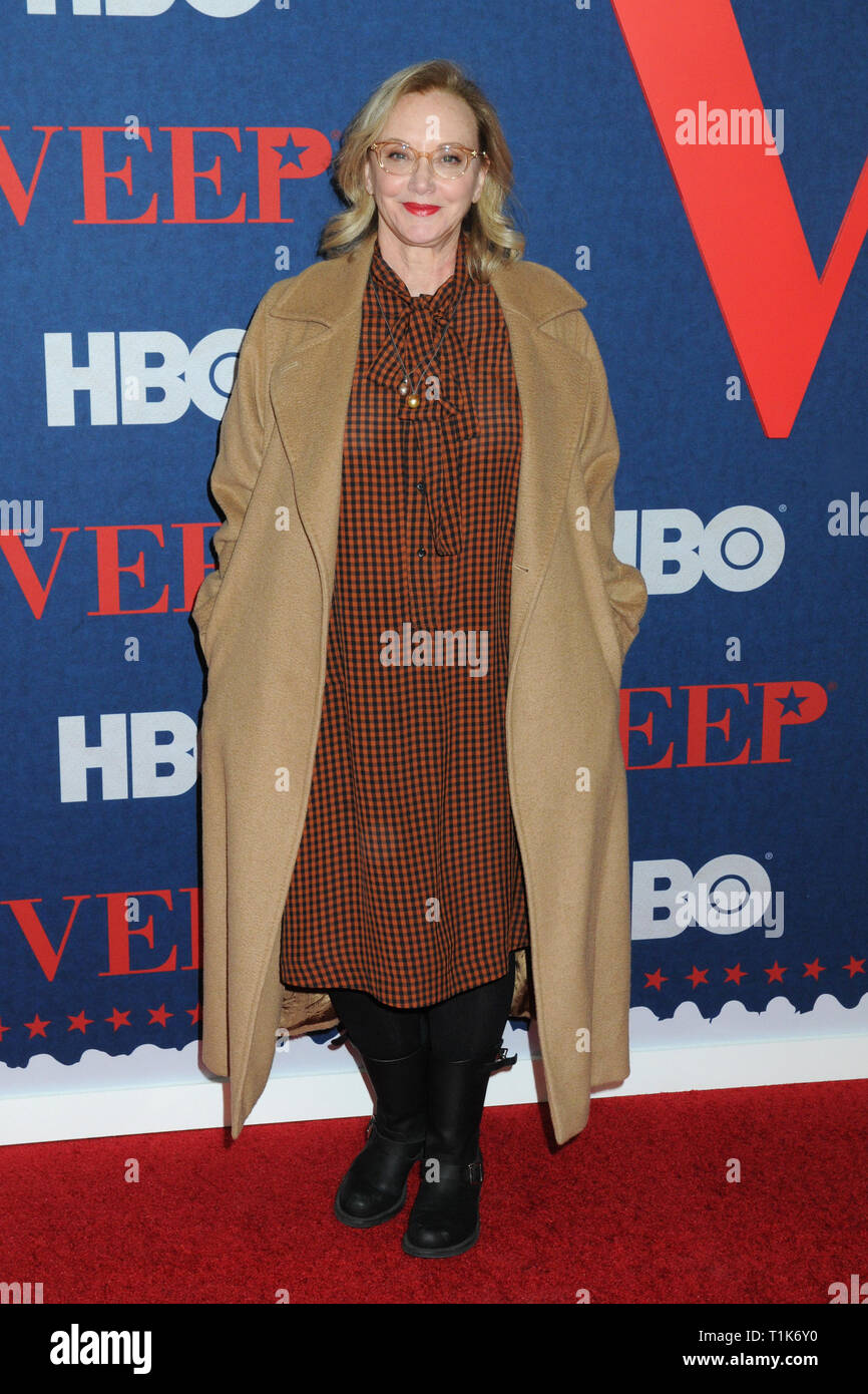 New York, New York, USA. 27th Mar, 2019. 27 March 2019 - New York, New York - J. Smith-Cameron at HBO Red Carpet Premiere of ''VEEP'' at Alice Tully Hall in Lincoln Center. Photo Credit: LJ Fotos/AdMedia Credit: Ylmj/AdMedia/ZUMA Wire/Alamy Live News - Stock Image