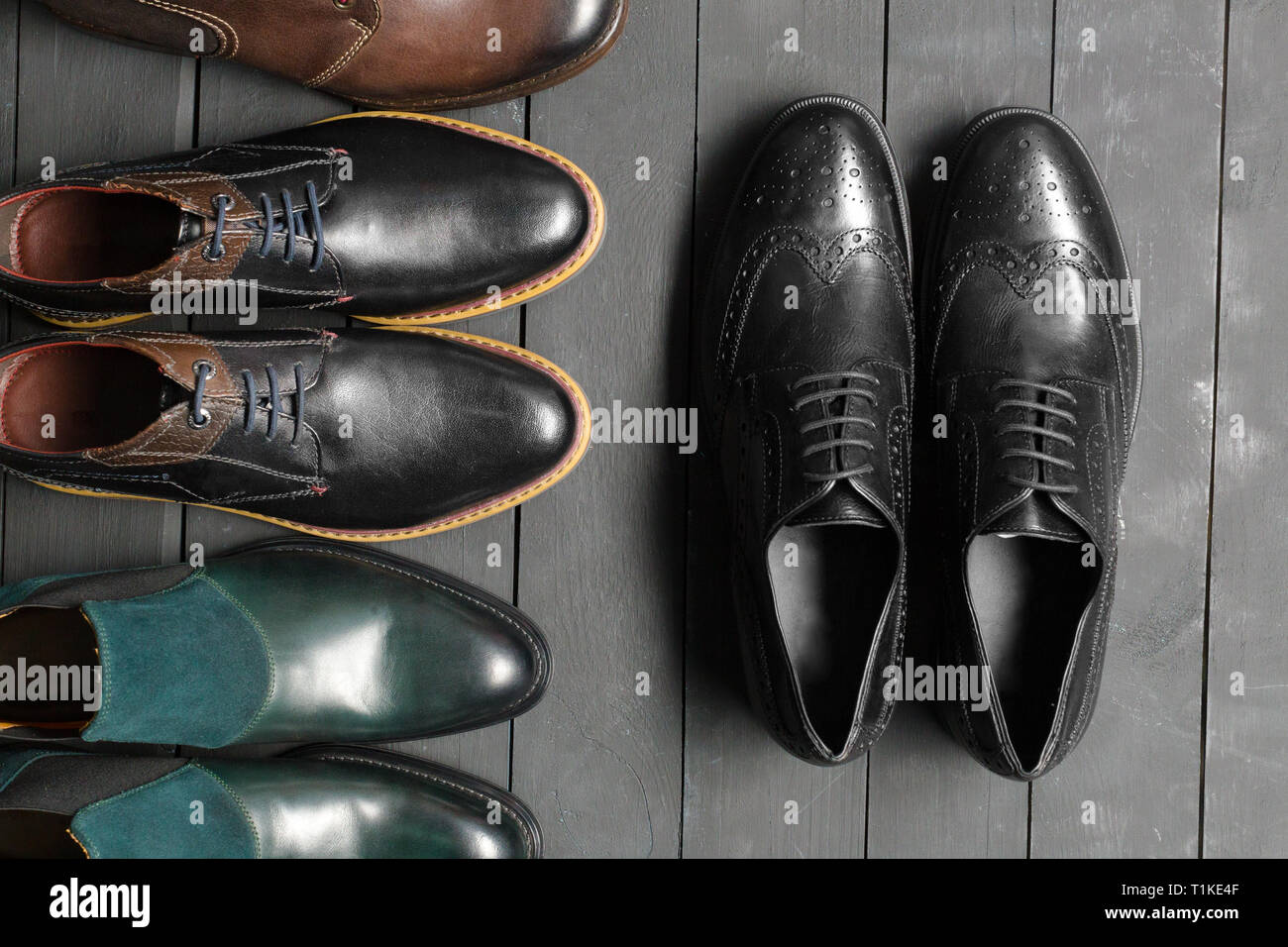 Leather men's shoes Stock Photo: 241987999 Alamy