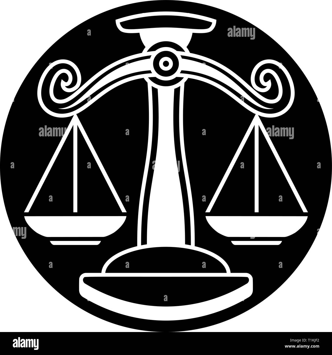 Libra Scales Zodiac Astrology Sign - Stock Image