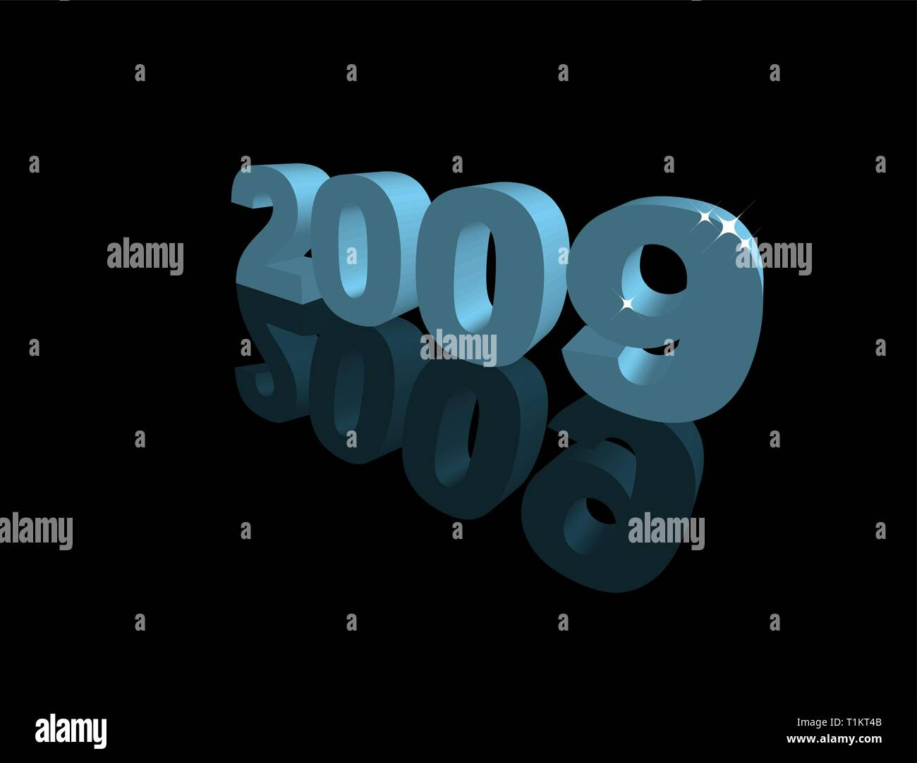 Happy New Year 2009 - New Year's card - Stock Vector