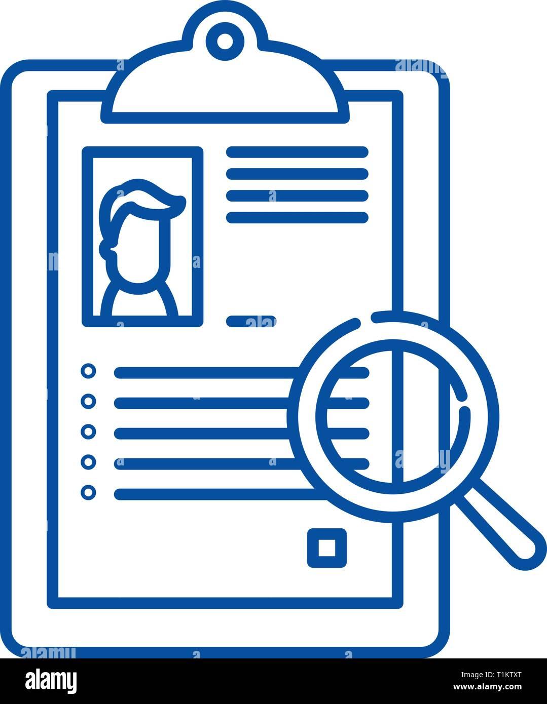 summary line icon concept  summary flat vector symbol