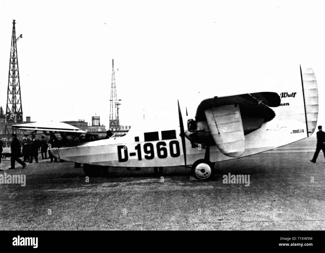 transport / transportation, aviation, research, experimental aircraft Focke-Wulf F 19 Ente, 1930, Additional-Rights-Clearance-Info-Not-Available - Stock Image