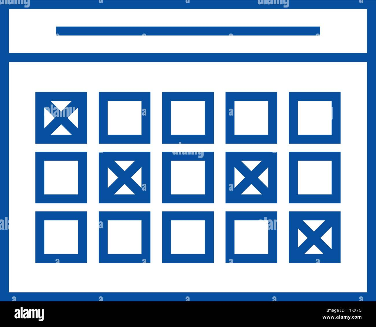 School Time Table Chart Stock Photos & School Time Table