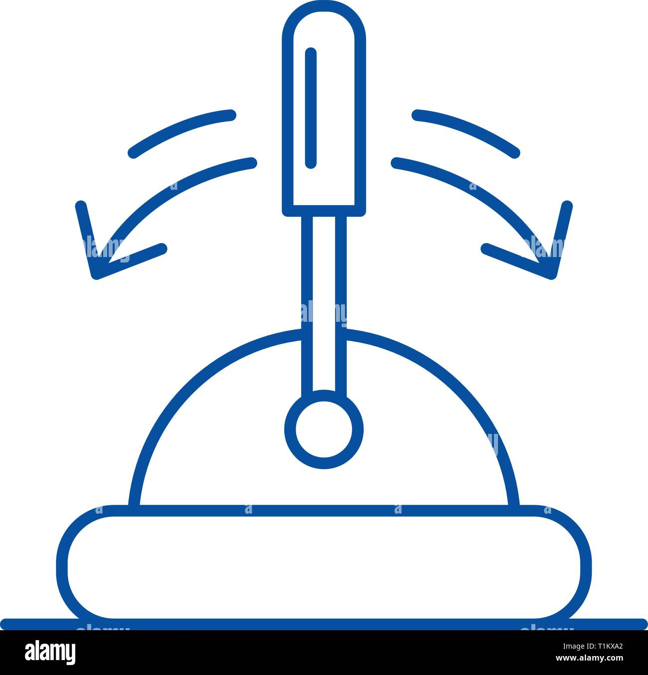 Toggle switch line icon concept. Toggle switch flat  vector symbol, sign, outline illustration. - Stock Image