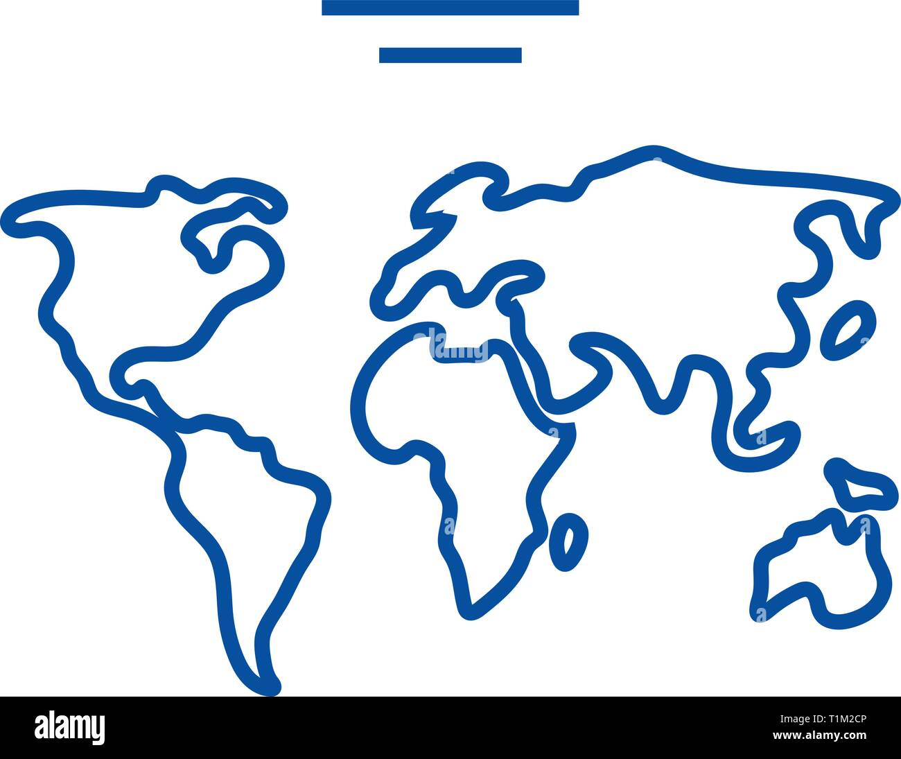 World Map Outline Stock Photos & World Map Outline Stock