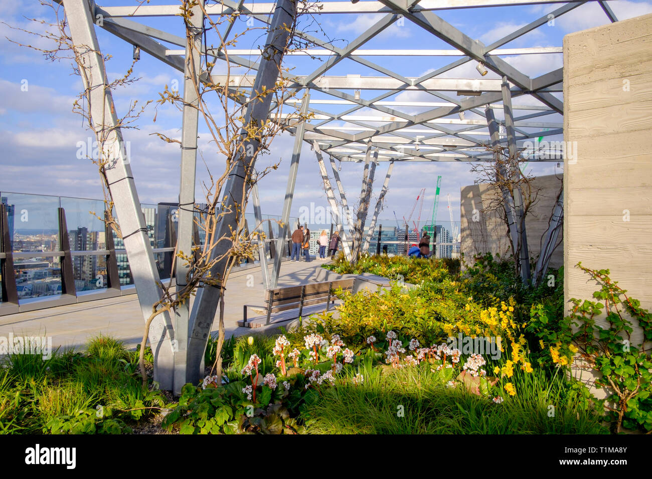 Roof Garden at 120 Fenchurch street, London, UK Stock ...