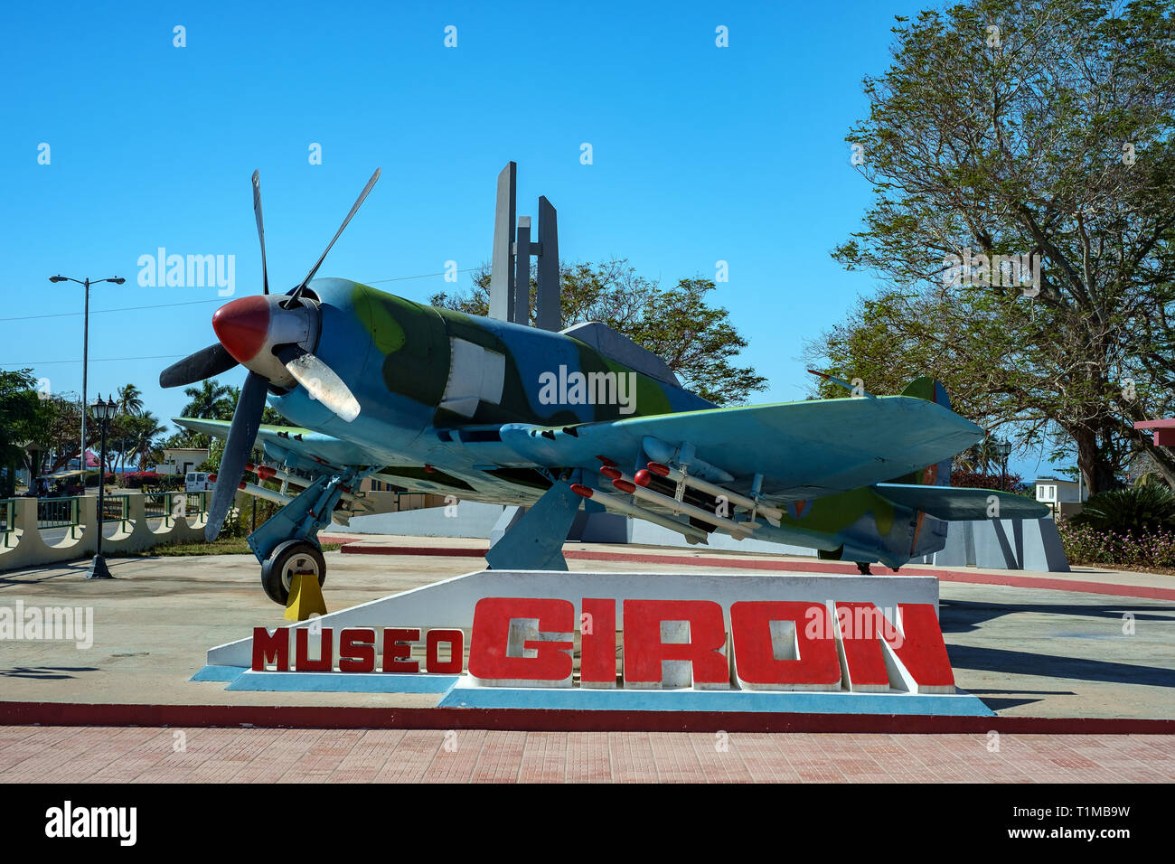 Fighter Aircraft at the Giron Museum, Cuba - Stock Image