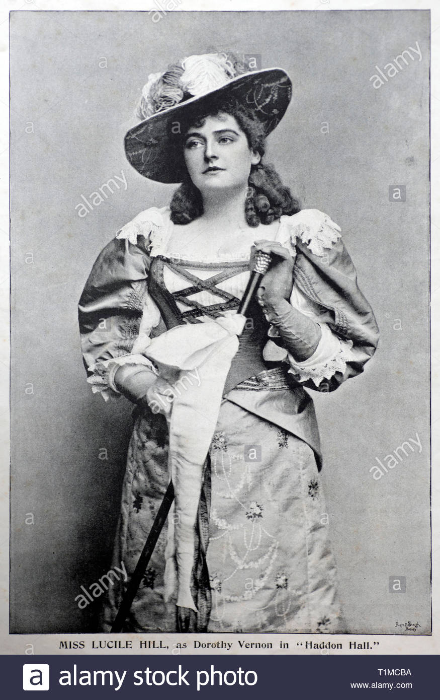 American born soprano Lucile Hill, photograph from 1890s - Stock Image