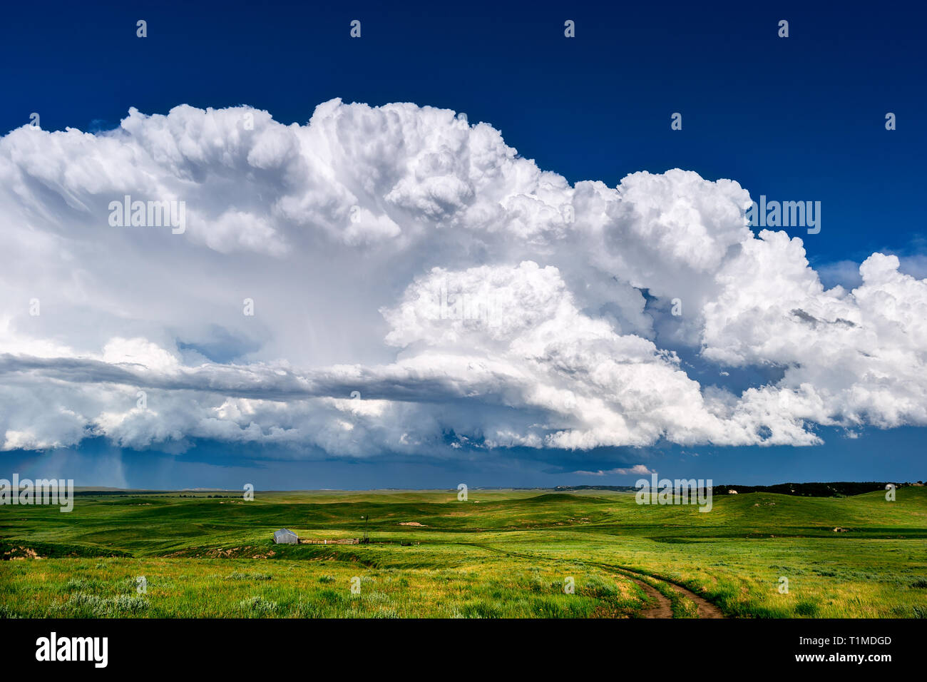 Thunderstorm clouds - Stock Image