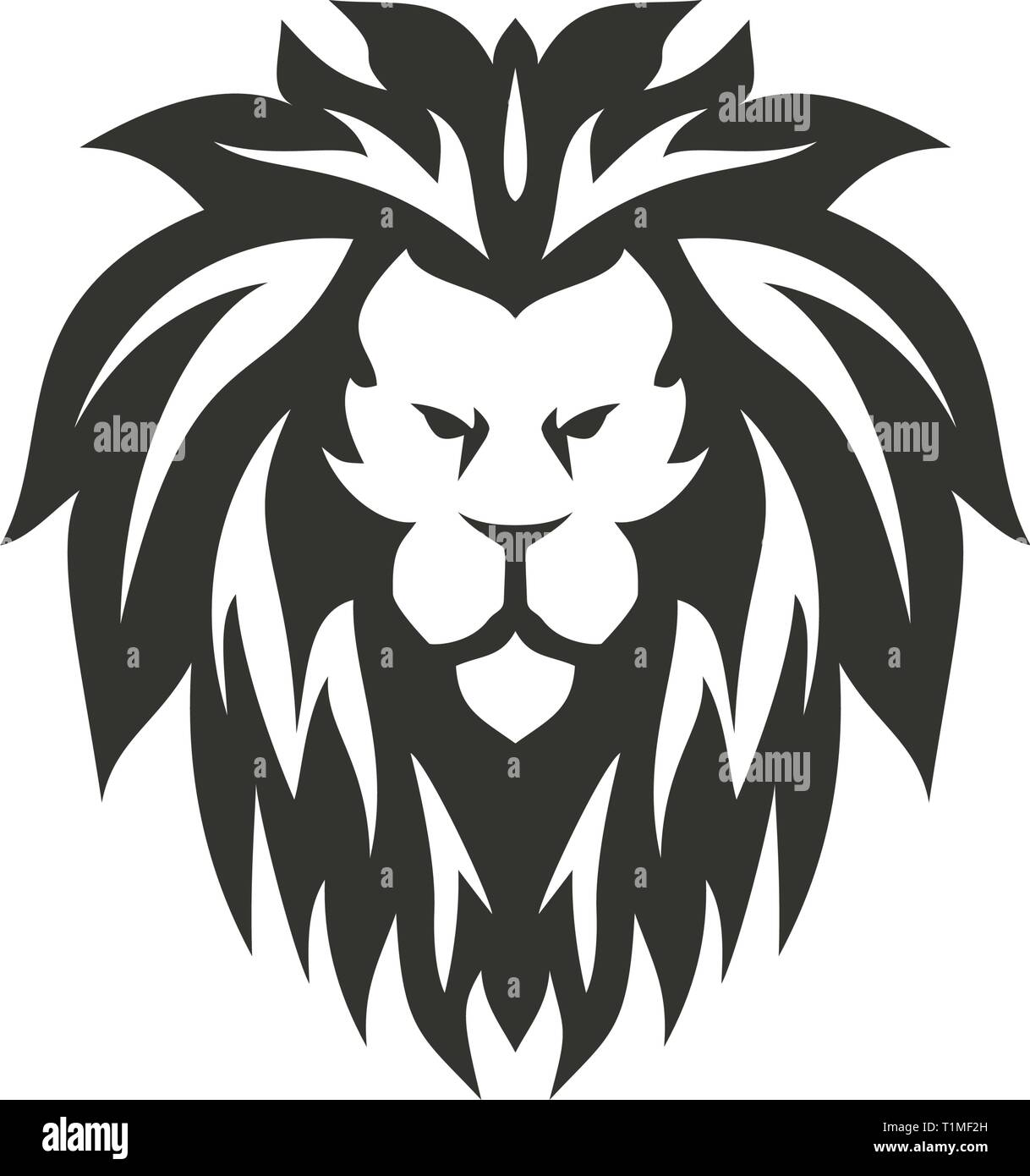 Lion symbol. Isolated on white background. - Stock Vector