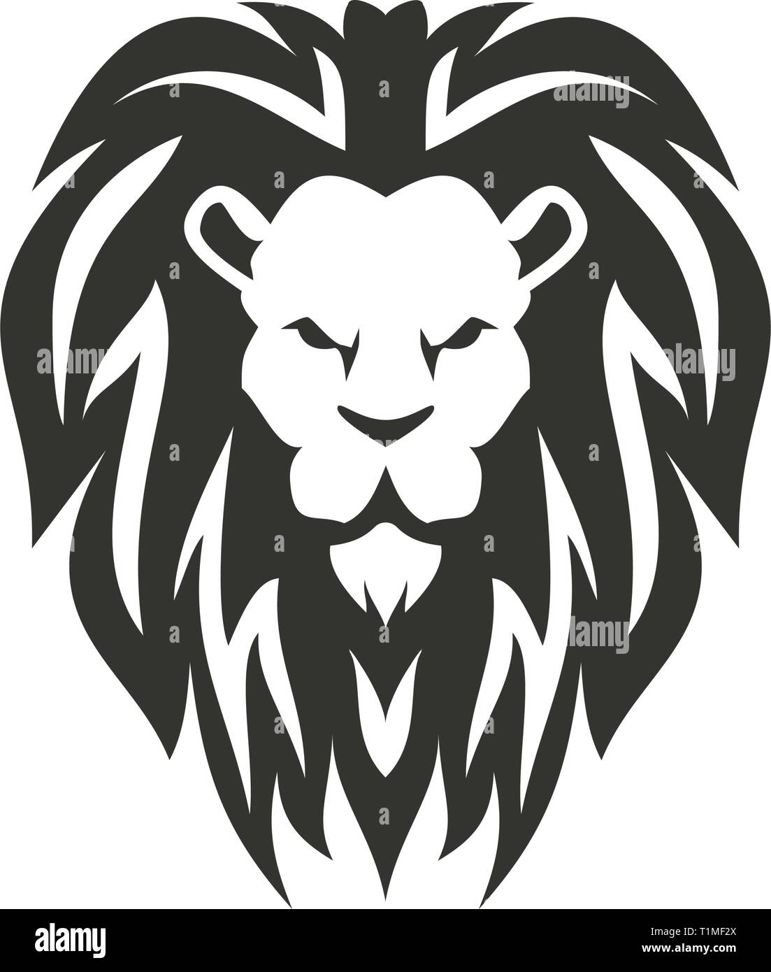 Lion symbol isolated on white background. - Stock Vector