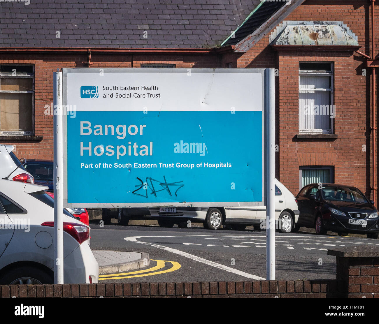 Bangor Community Hospital in Bangor Northern Ireland - Stock Image