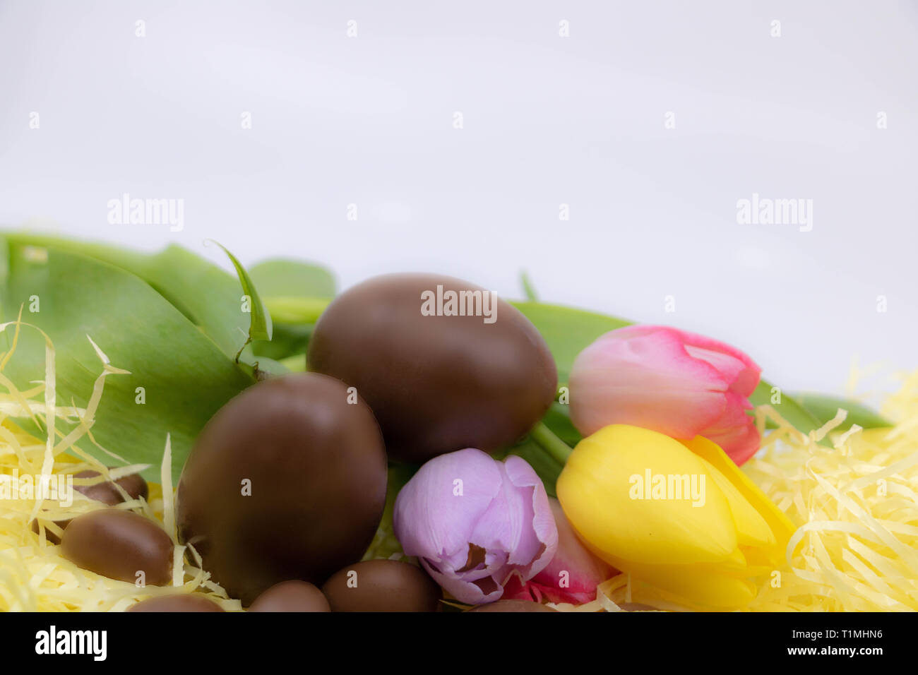 Shabby chic graphic resource for Easter - Stock Image