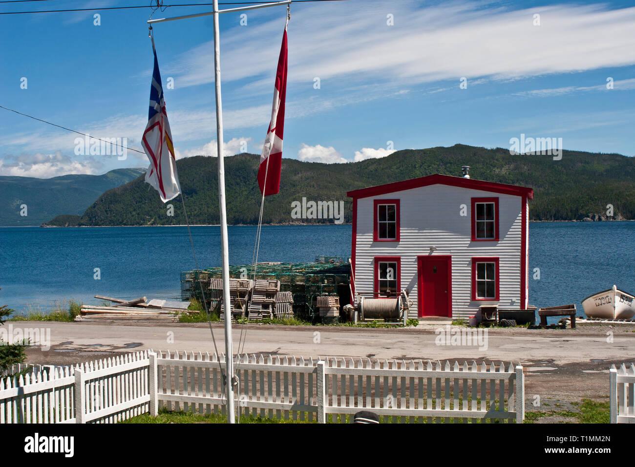 Newfoundland, Bonne Bay, Woody Point, Roberts Store - Stock Image