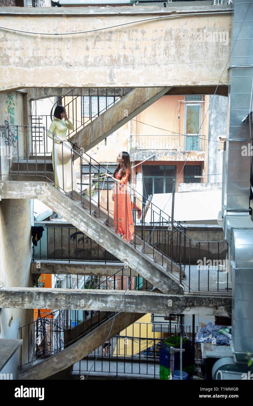 Poor housing in Ho Chi Minh City, Vietnam - Stock Image