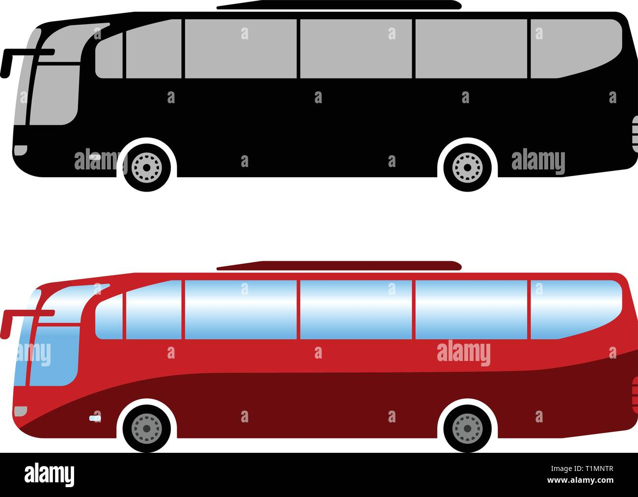coach bus simple illustration - vector Stock Vector