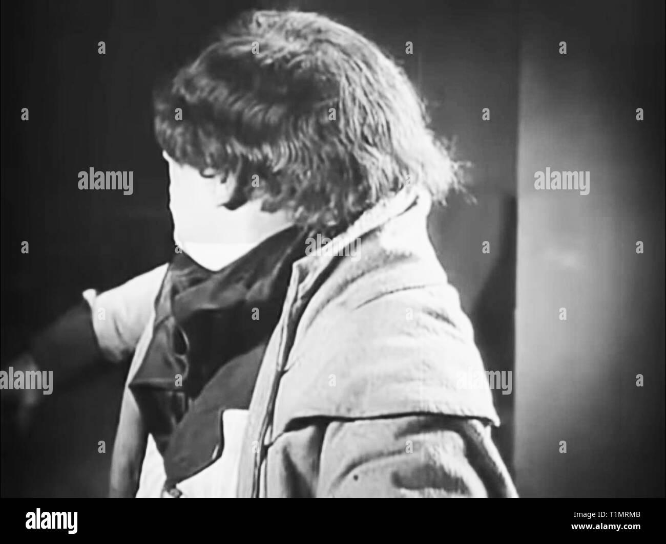 Vintage screen from Nosferatu 1922 movie starring Max Schreck and