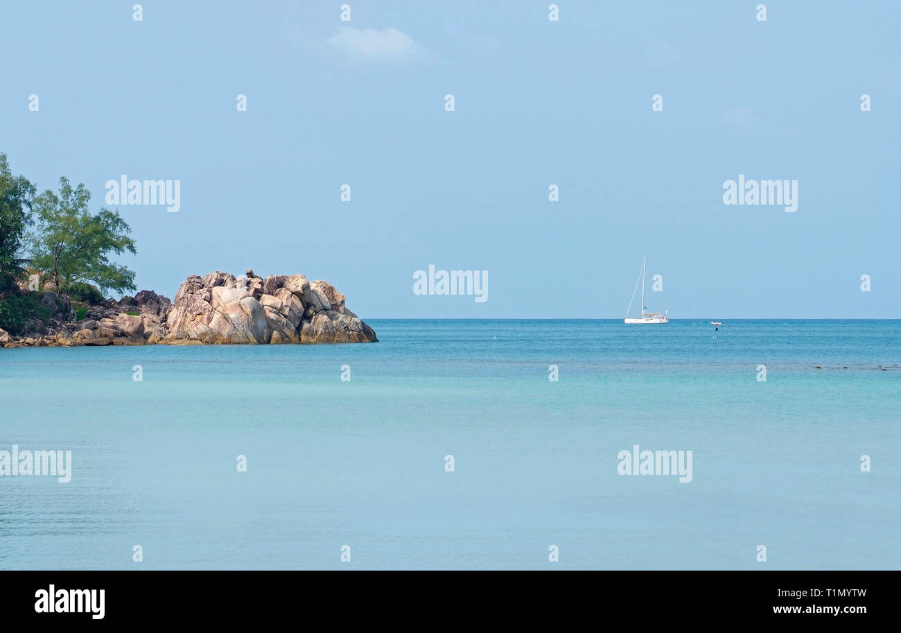 beautiful seascape wiht yacht in Thailand - Stock Image