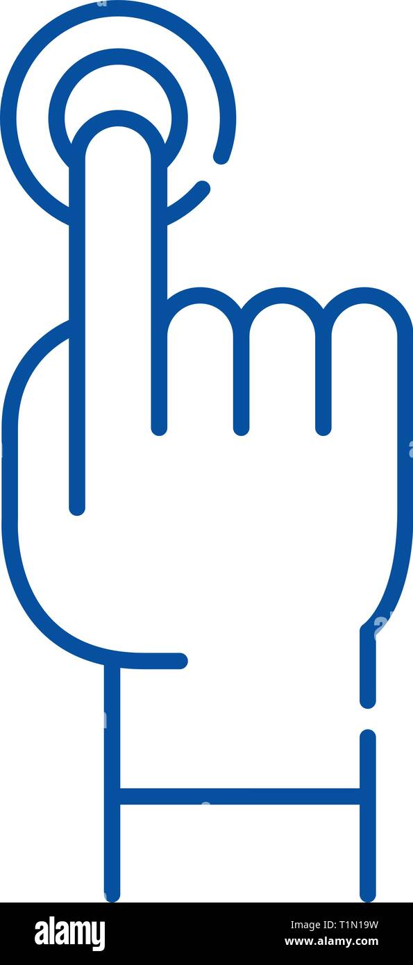 Finger tapping line icon concept  Finger tapping flat vector