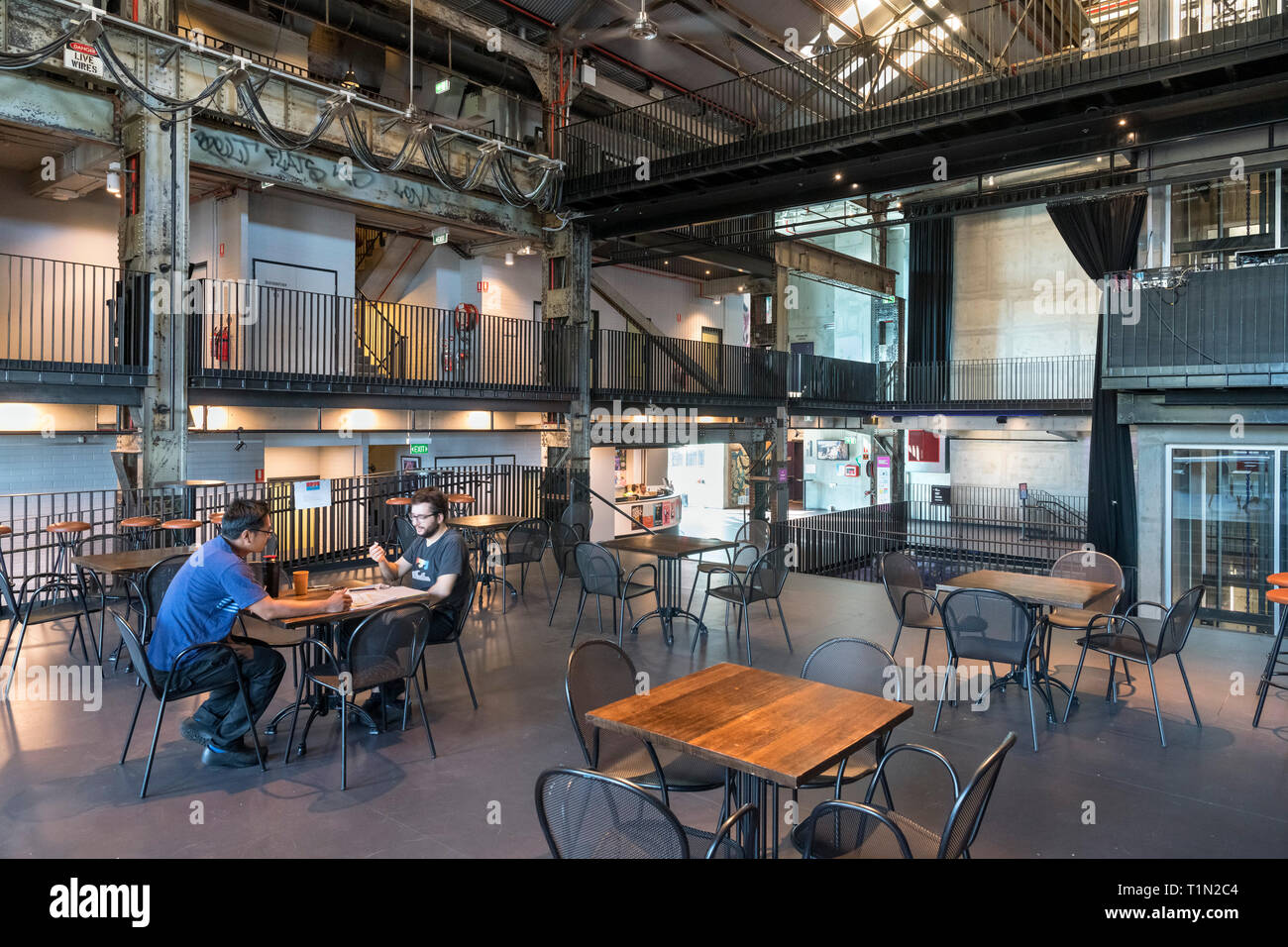 Interior of the Brisbane Powerhouse, an arts centre in a converted power station, Brisbane, Queensland, Australia - Stock Image