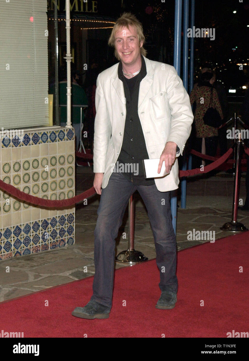 LOS ANGELES, CA. December 12, 1999:   'Notting Hill' star Rhys Ifans at the Los Angeles premiere of 'The Talented Mr. Ripley.' © Paul Smith / Featureflash - Stock Image