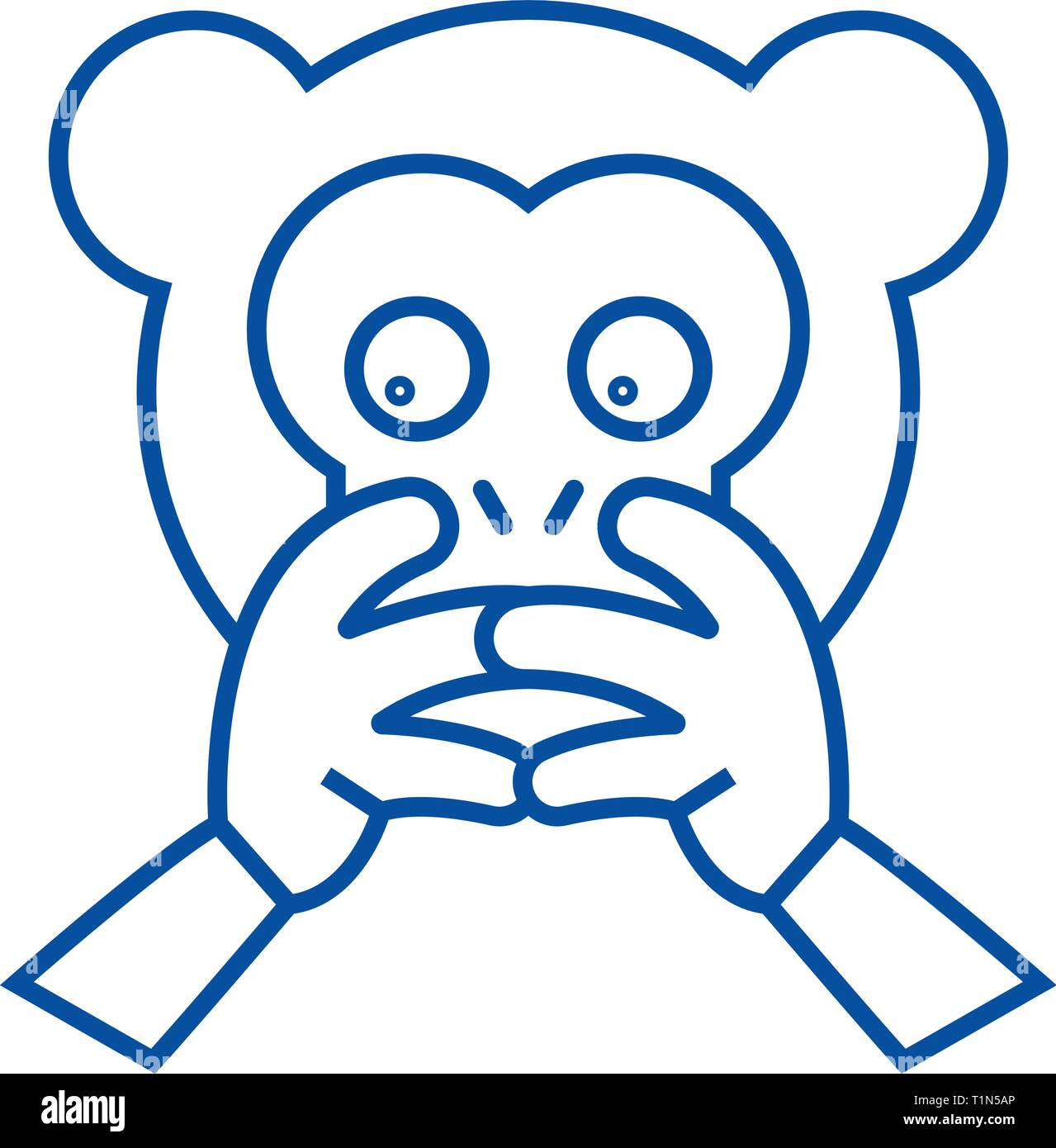 Animal Emoji Vector High Resolution Stock Photography And Images Alamy Unique lion face emoji stickers designed and sold by artists. https www alamy com hear no evil emoji line icon concept hear no evil emoji flat vector symbol sign outline illustration image242025022 html