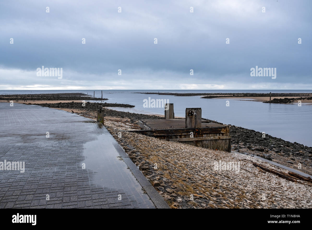 Irvine Harbour North Ayrshire Scotland on a bright but cold March Day Stock Photo