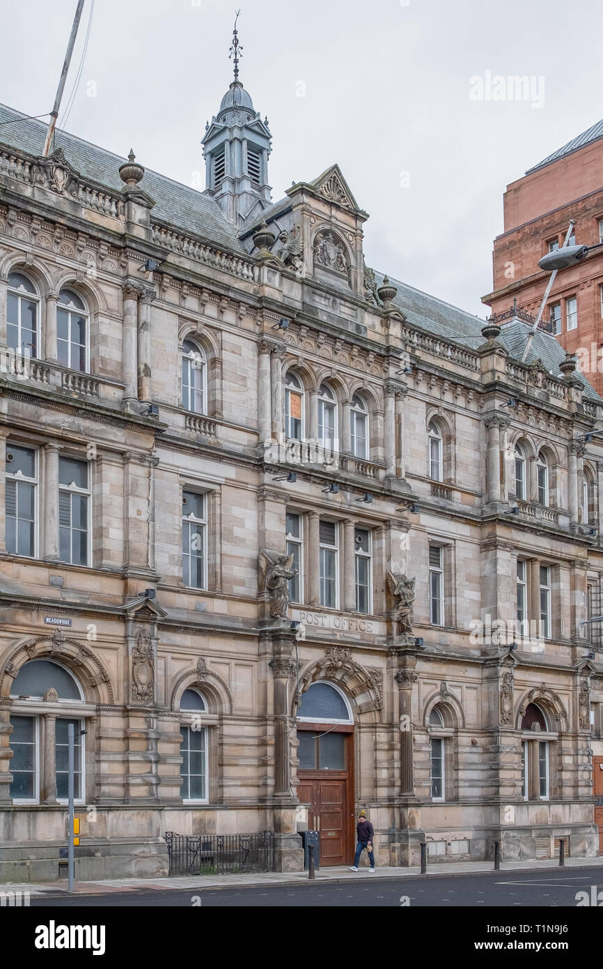 Dundee, Scotland, UK - March 22, 2019: The Old Post Office Buildings at Meadowside in Dundee Scotland. - Stock Image
