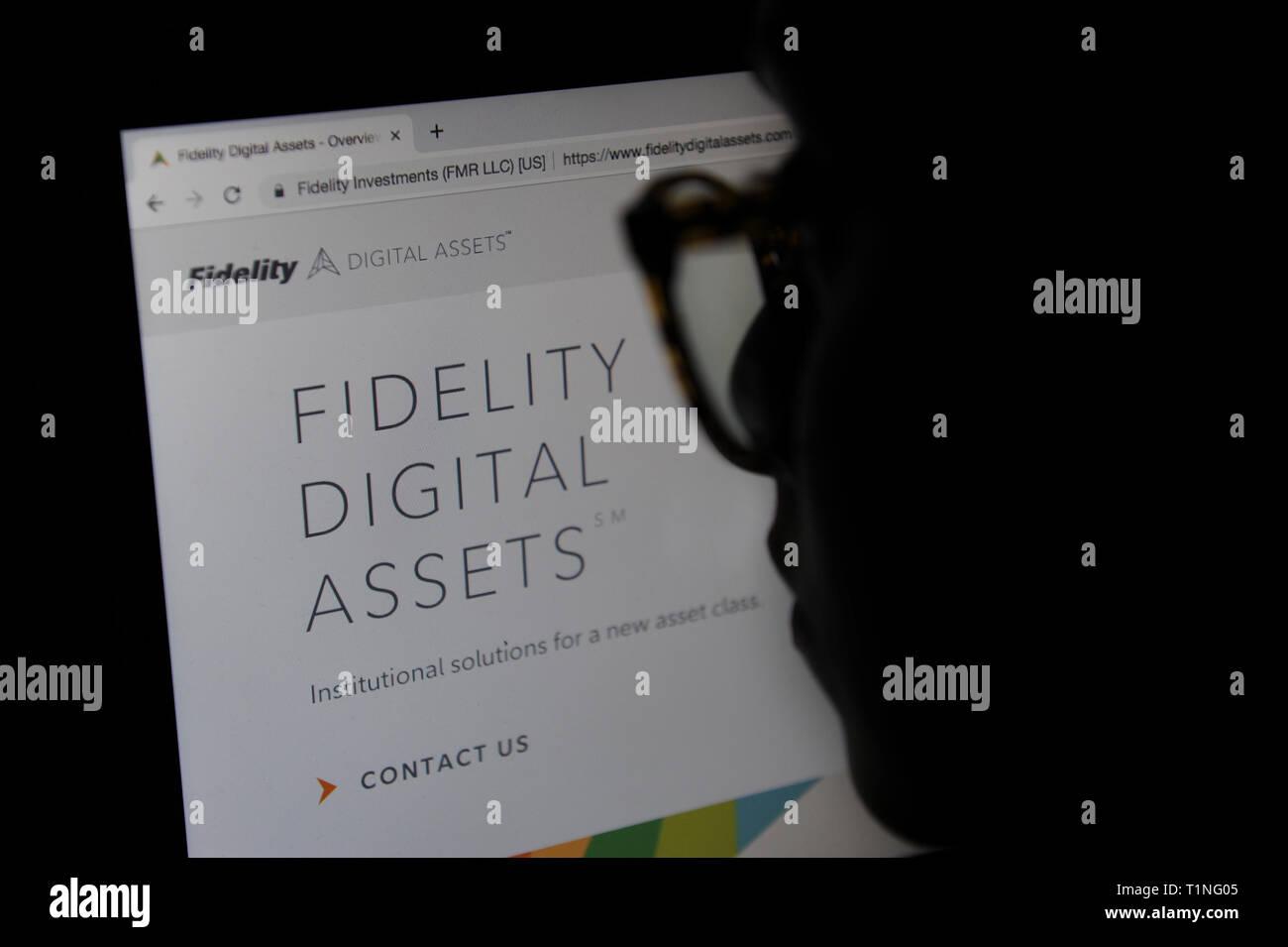 Fidelity Digital Assets website - Stock Image