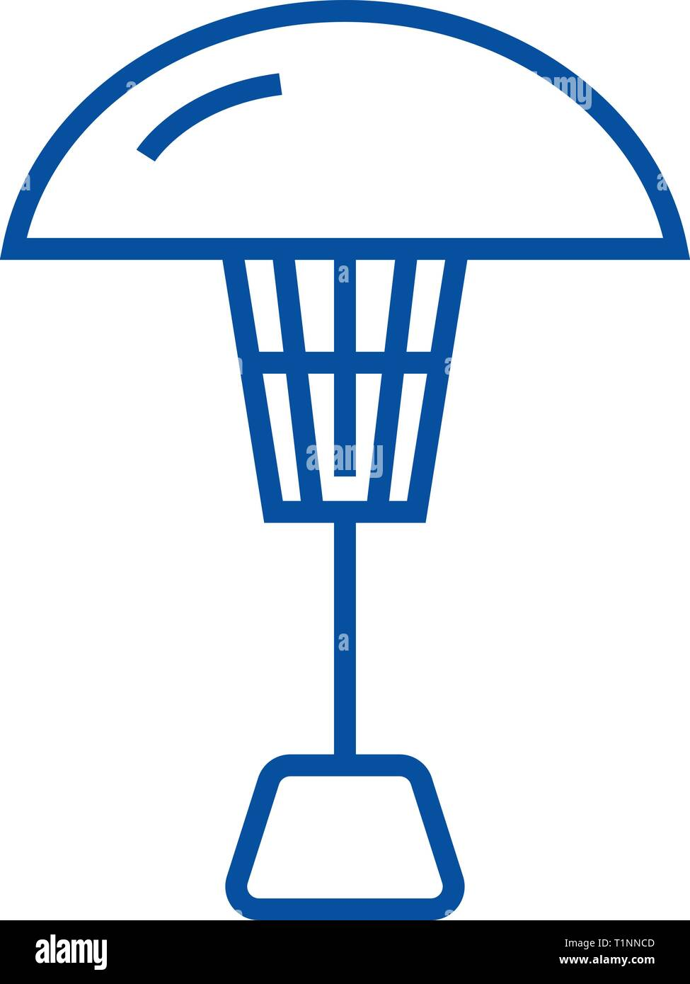 Patio heater line icon concept. Patio heater flat  vector symbol, sign, outline illustration. - Stock Vector
