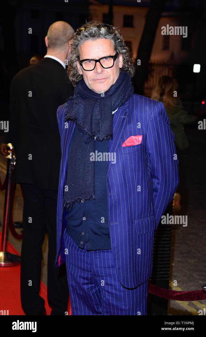 George Waud arriving for the pre-premiere screening of Accidental Studio, the documentary telling the story of HandMade Films at Curzon Mayfair, London. - Stock Image