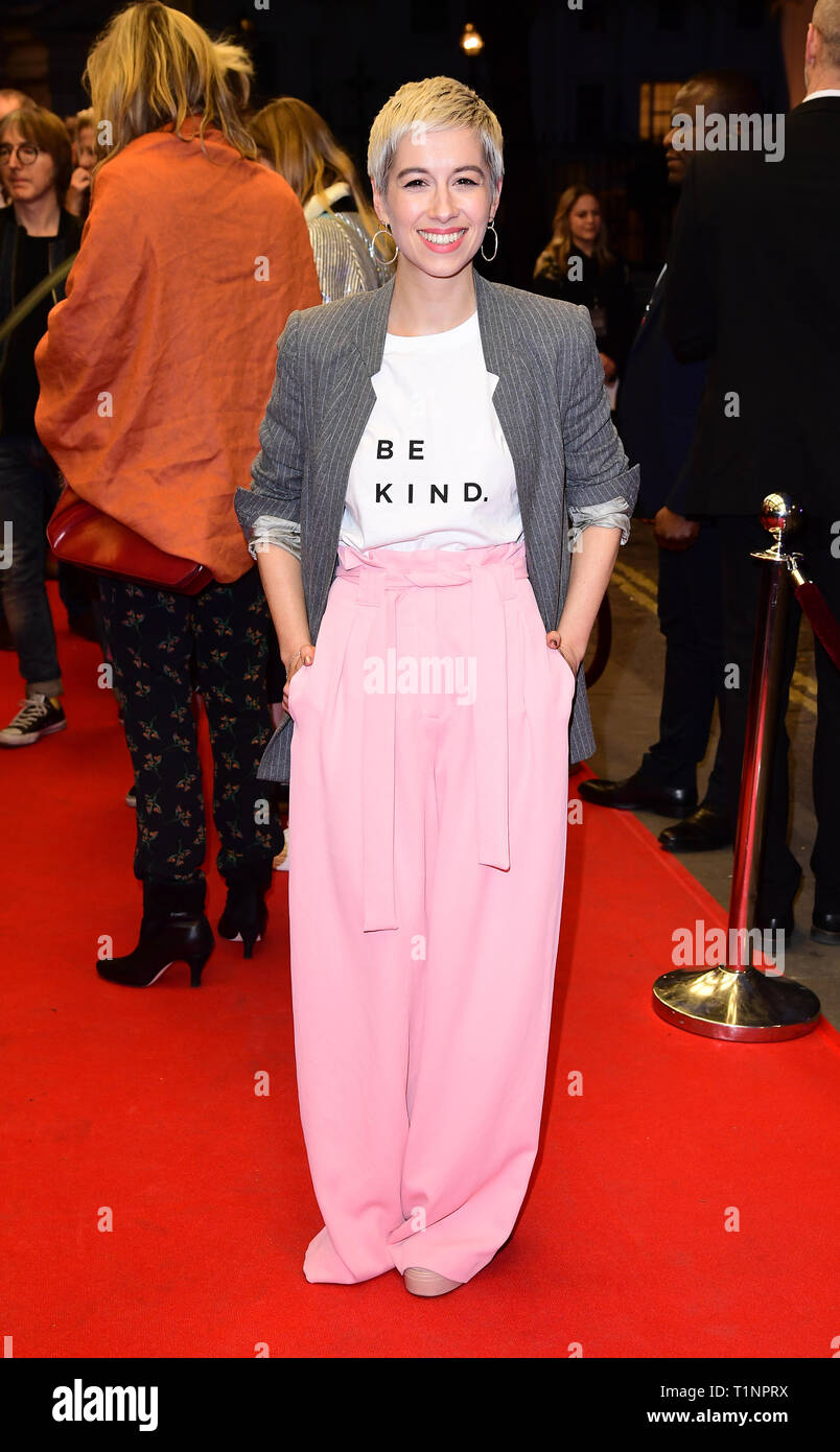 SuRie arriving for the pre-premiere screening of Accidental Studio, the documentary telling the story of HandMade Films at Curzon Mayfair, London. - Stock Image