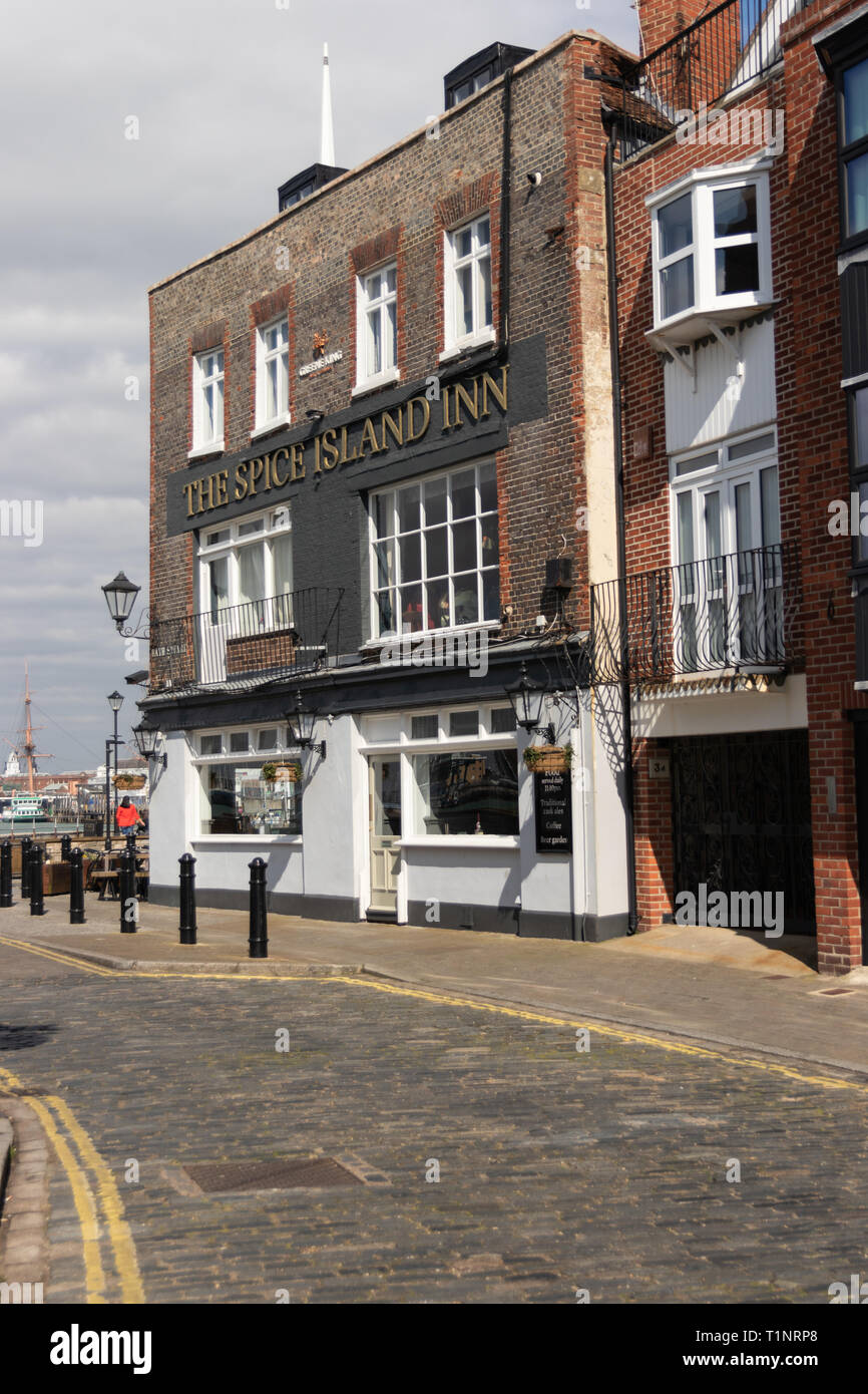 Spice island inn public house, Old Portsmouth, Hampshire, UK - Stock Image