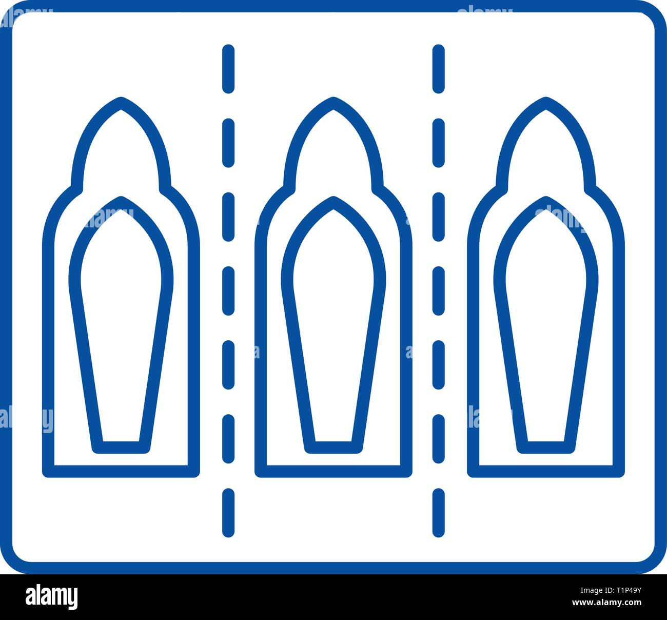 Injection capsules line icon concept. Injection capsules flat  vector symbol, sign, outline illustration. - Stock Vector