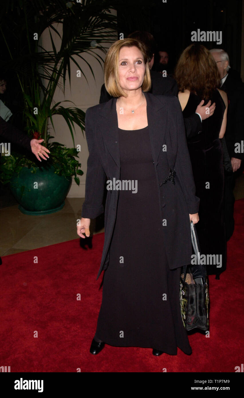 LOS ANGELES, CA. February 18, 2000:   Actress Carrie Fisher at American Film Institute Life Achievement Award Salute to Harrison Ford. © Paul Smith / Featureflash - Stock Image