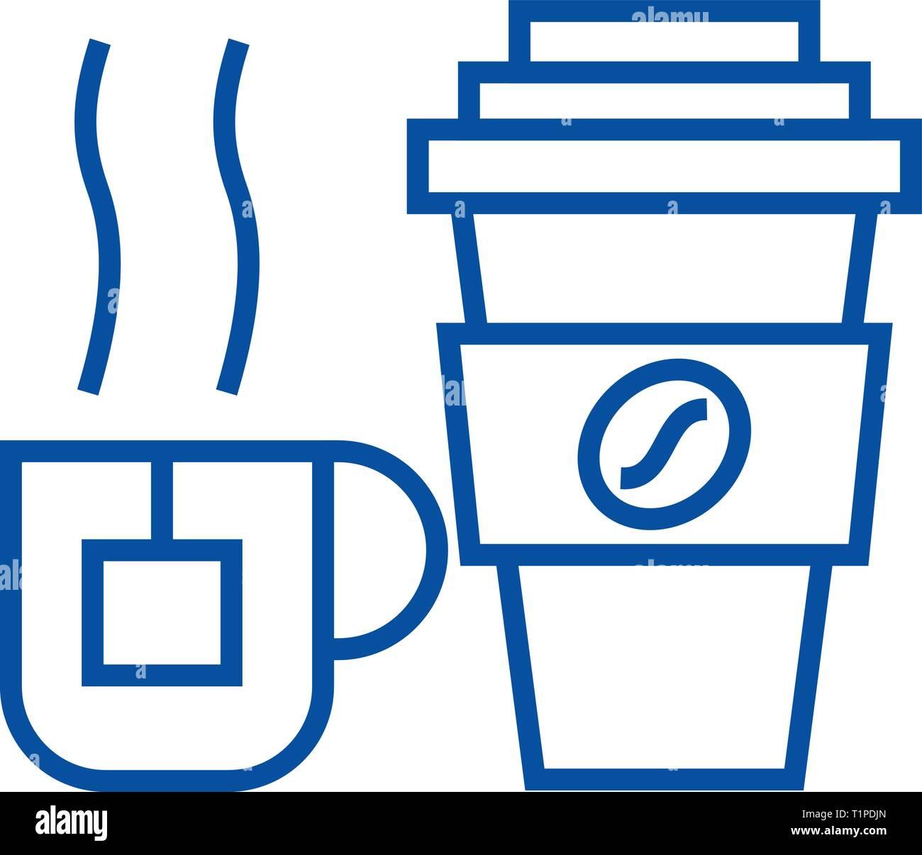 Icon MugTea Cup Line Coffee ConceptFlat g7b6Yfy