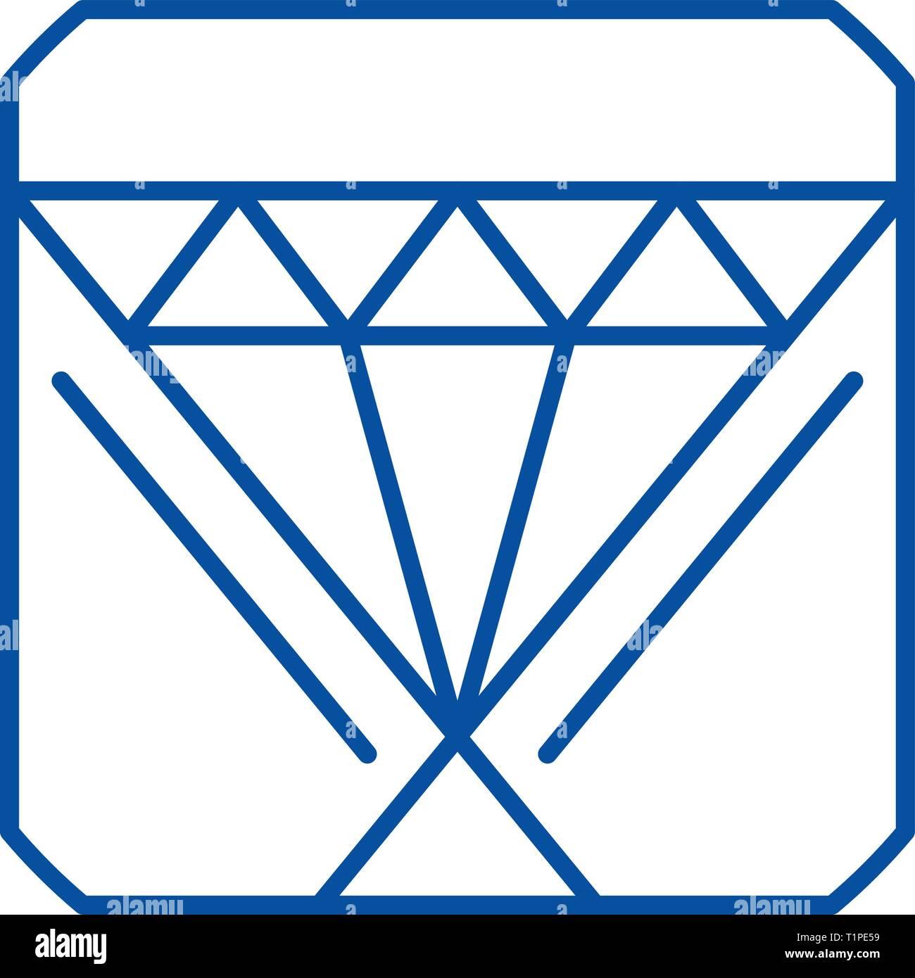 Customer relationship management line icon concept. Customer relationship management flat  vector symbol, sign, outline illustration. - Stock Image