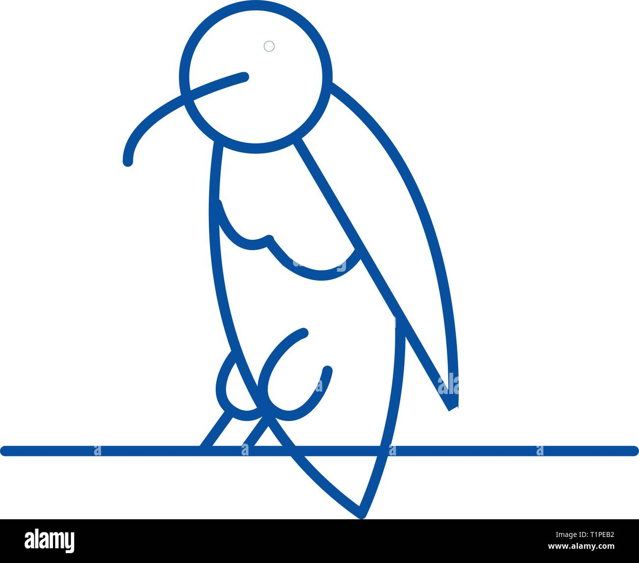 Dead end line icon concept. Dead end flat  vector symbol, sign, outline illustration. - Stock Image