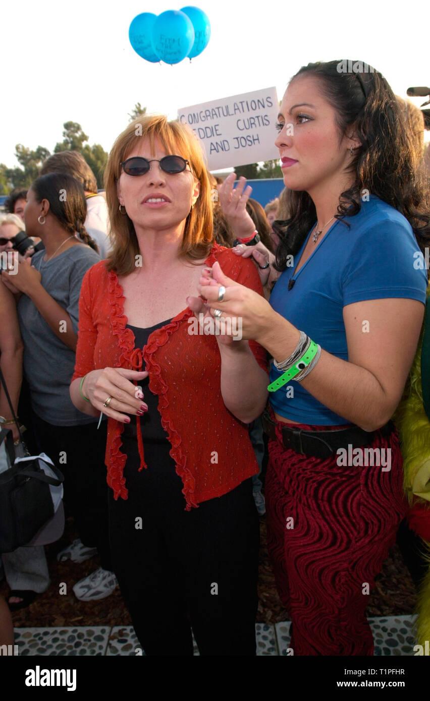 Los Angeles Ca September 29 2000 Former Big Brother Houseguests Karen Fowler Left Brittany Petros