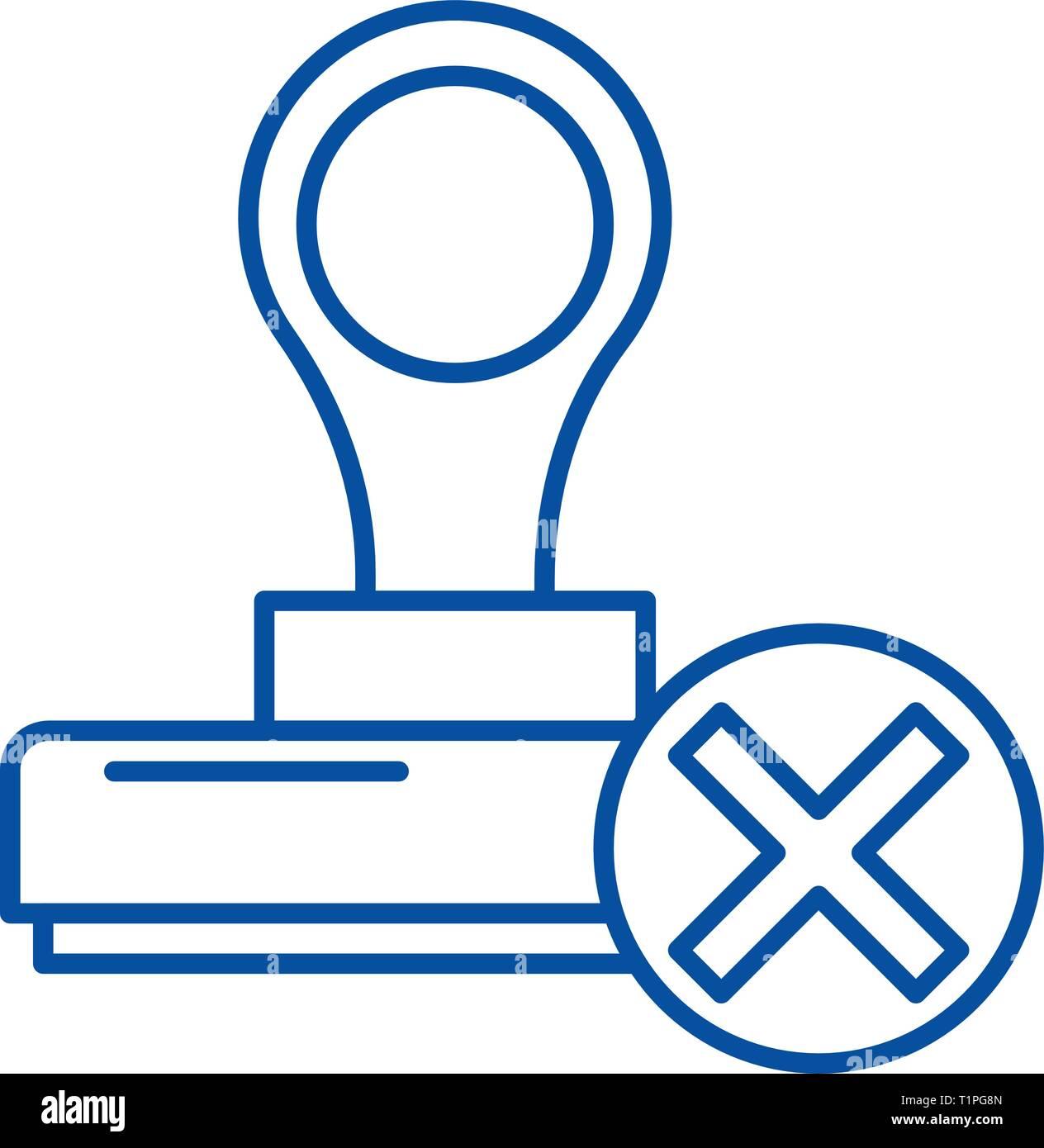 Renouncement line icon concept. Renouncement flat  vector symbol, sign, outline illustration. - Stock Vector