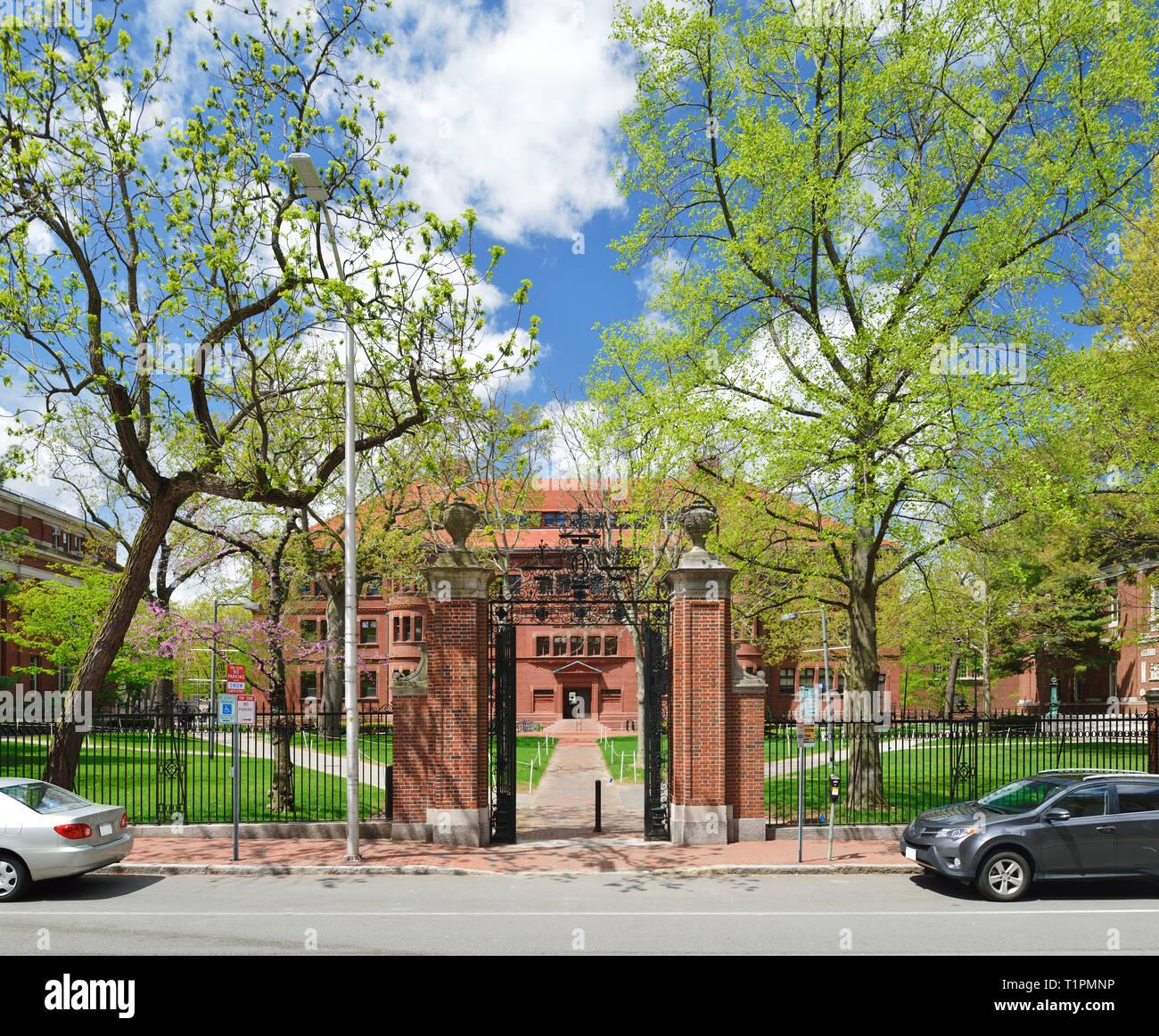Harvard University Gates. Sever - Stock Image