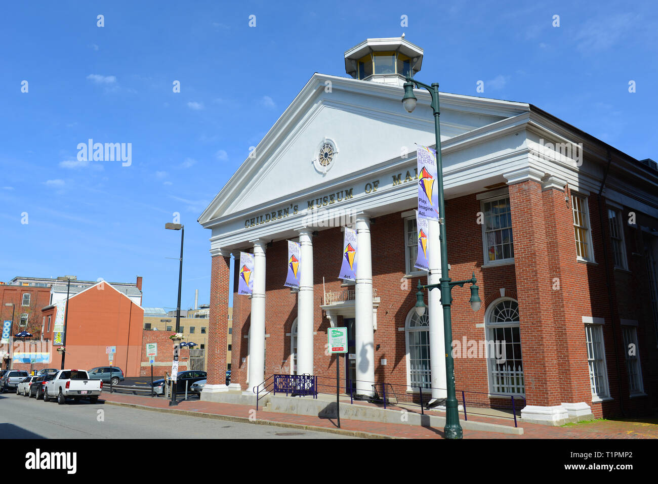 Portland Children's Museum of Maine at Arts District on Free Street in Portland, Maine, USA. Stock Photo