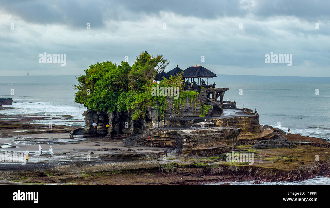 Early Morning At Tanah Lot Temple In Bali Indonesia This Picture Is