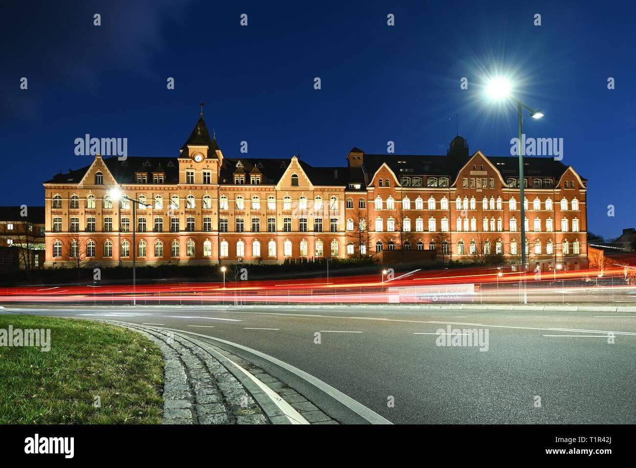 Tuttlingen, Germany  27th Mar, 2019  At Blue Hour, cars