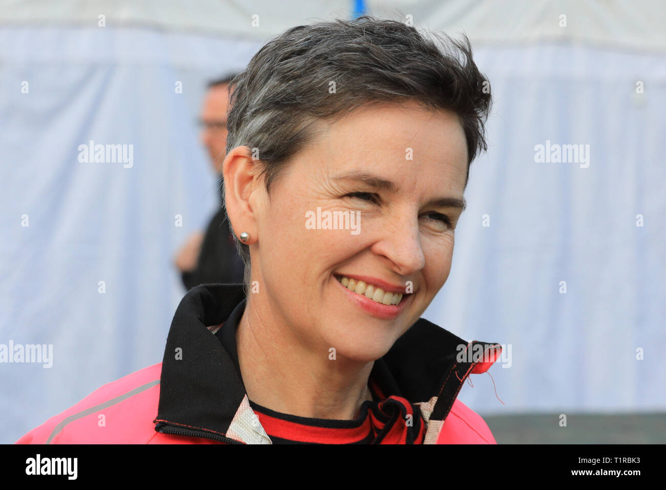 Westminster, London, UK. 28th Mar, 2018. Mary Creagh, MP, Labour, on College Green, Westminster. Credit: Imageplotter/Alamy Live News - Stock Image