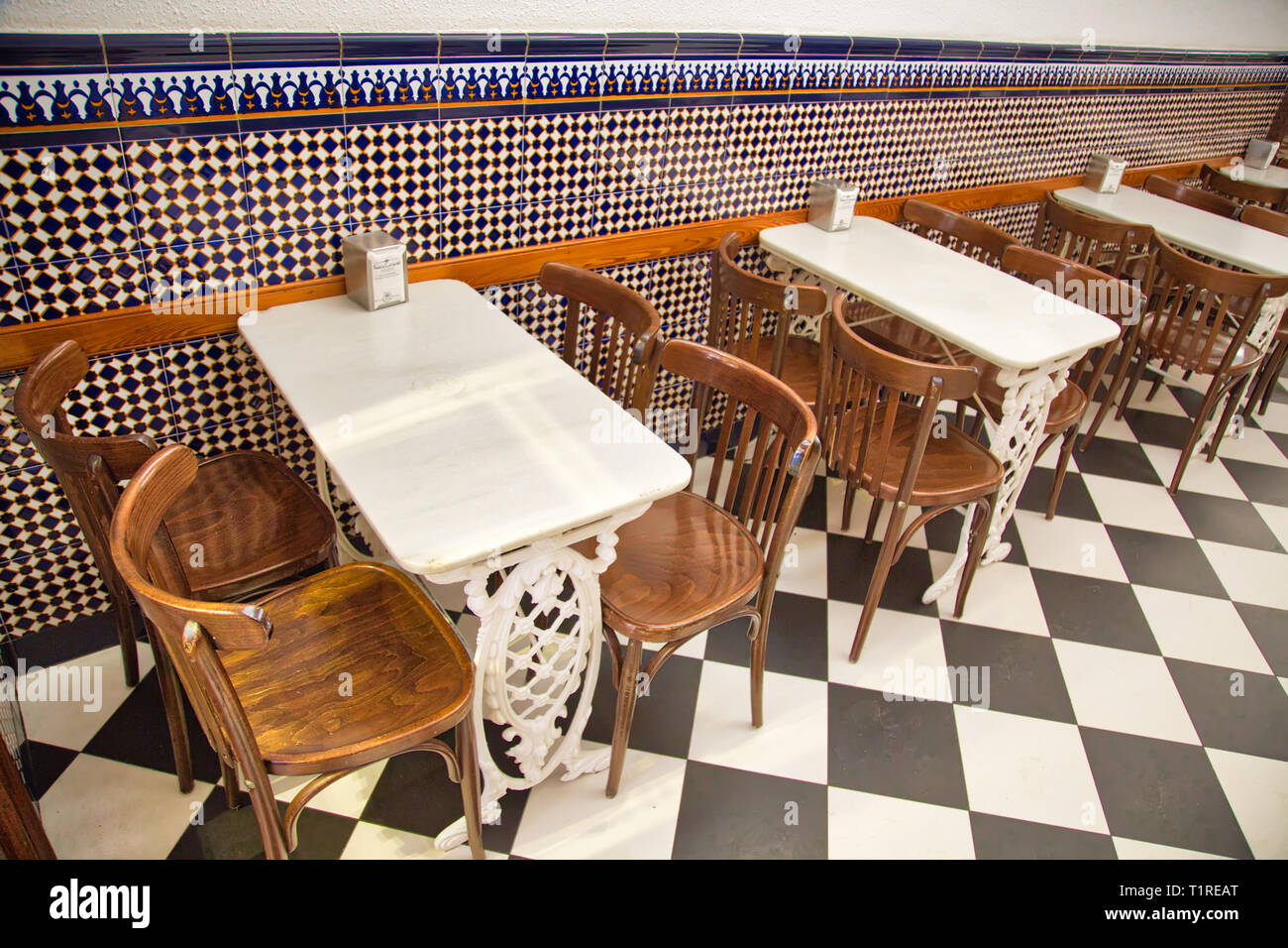 Typical Spanish cafe in Valencia Stock Photo