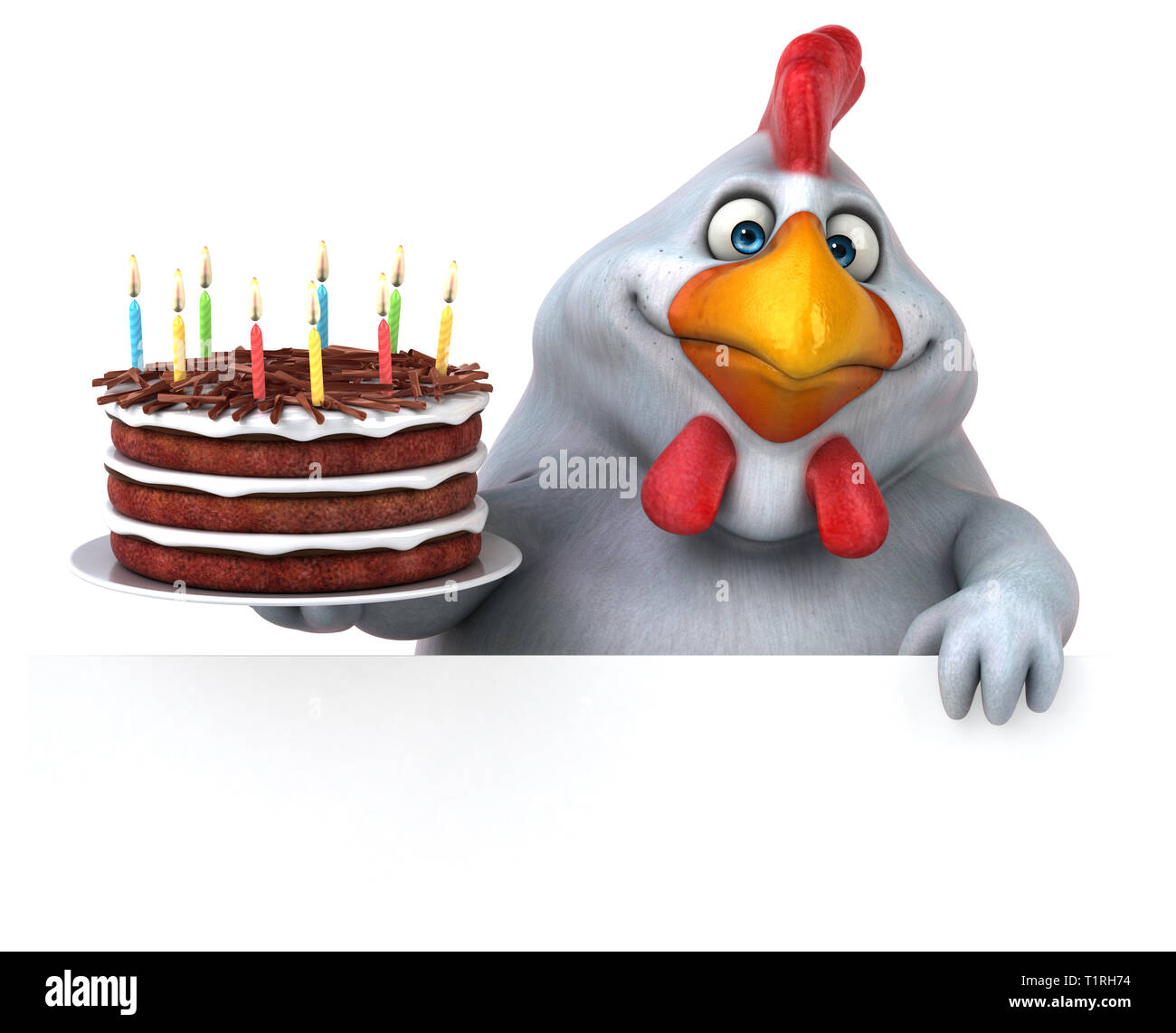 Fabulous Chicken Birthday Cake Cut Out Stock Images Pictures Alamy Birthday Cards Printable Inklcafe Filternl