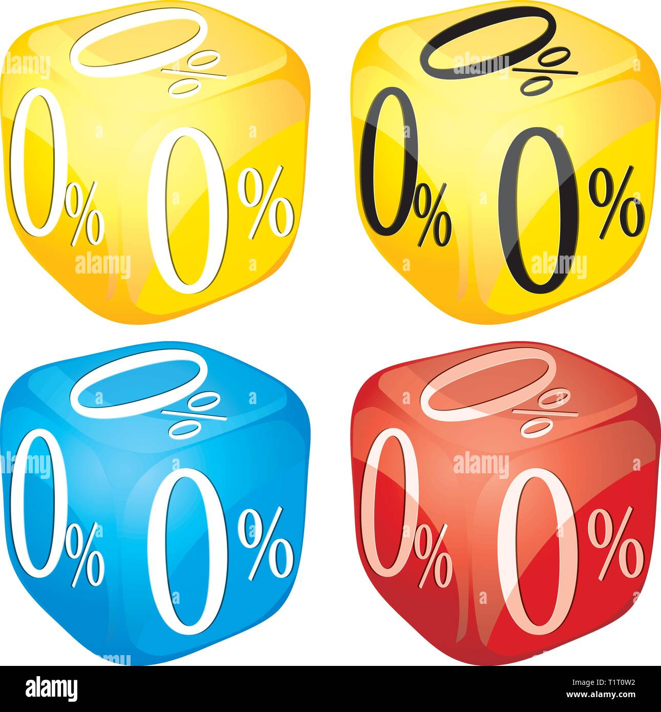Credit dice Stock Vector