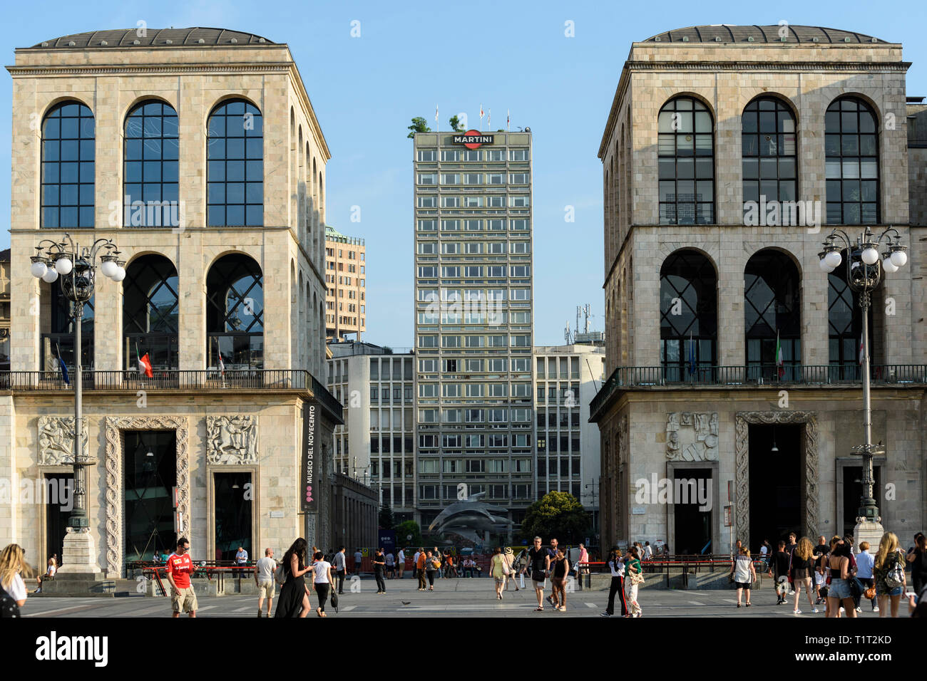 Milan Italy Exterior View Of The Palazzo Dell Arengario