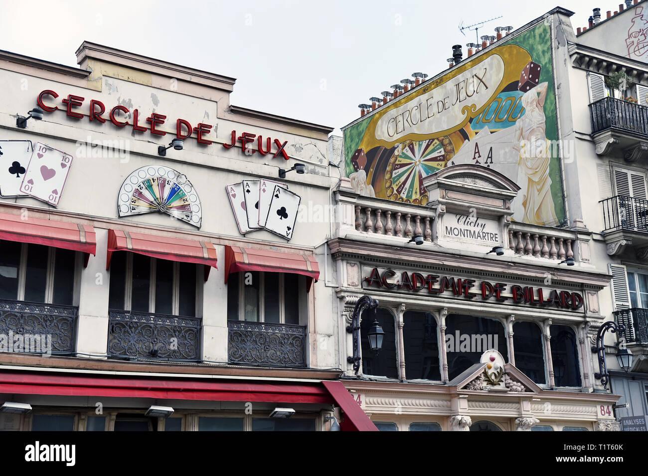 Gambling Joint - Place de Clichy - Paris - France - Stock Image